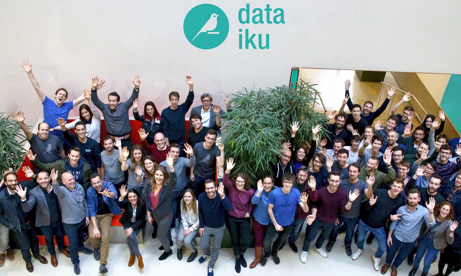 dataiku team in Paris office following Series C announcement