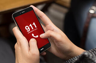 911 call on smart phone
