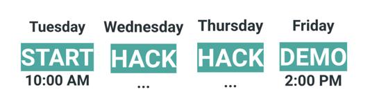 Hackaiku schedule