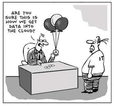 Cartoon - data science cloud