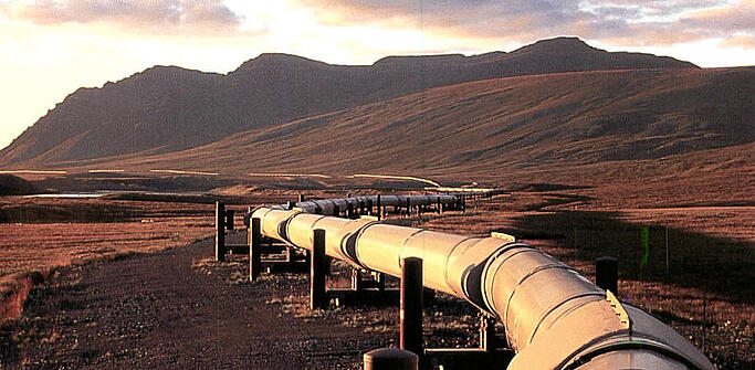 gas pipeline near mountain