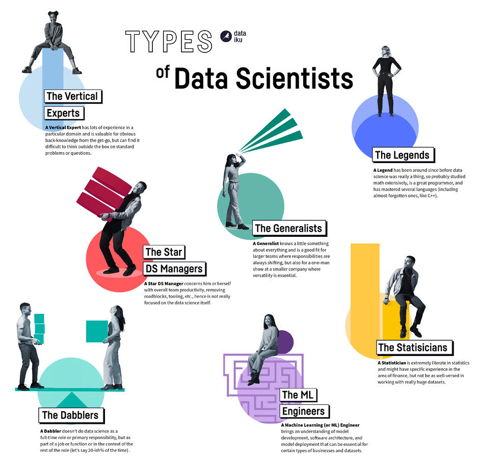 different types of data scientists