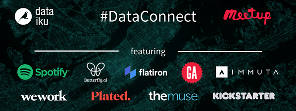 Logos from Partners of DataConnect Meetups