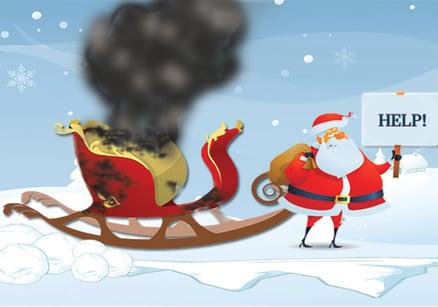 Santa's broken down sleigh