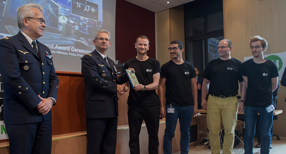 Dataiku participants in NATO Innovation Challenge with NATO officials