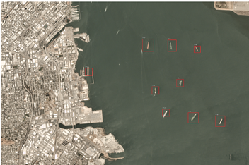 detected ships on satellite imagery 2