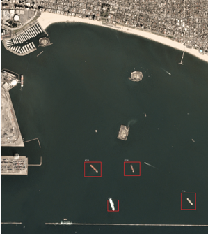 detected ships on satellite imagery 1
