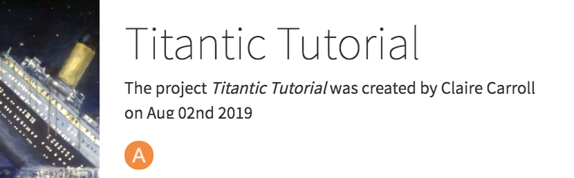 Titanic-tutorial-project