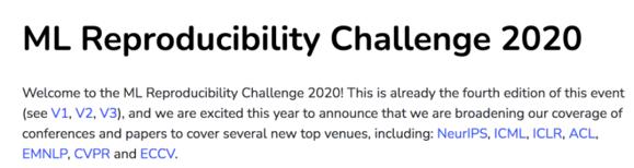 ML reproducibility challenge