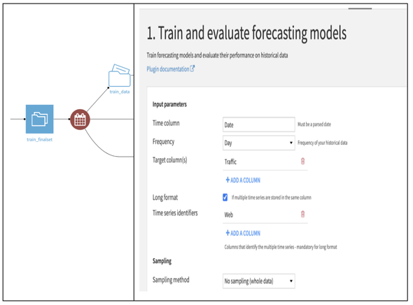train and evaluate forecasting models plugin