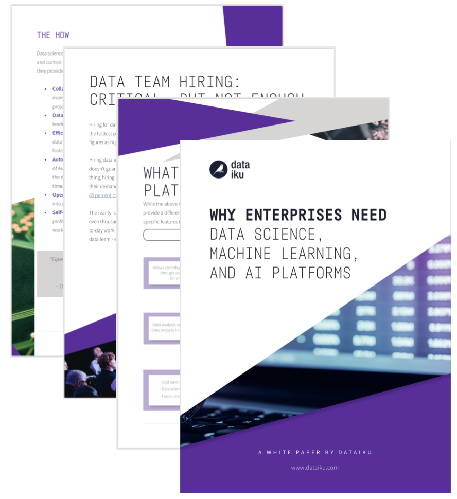 Why DS, ML, and AI Platforms purple cover