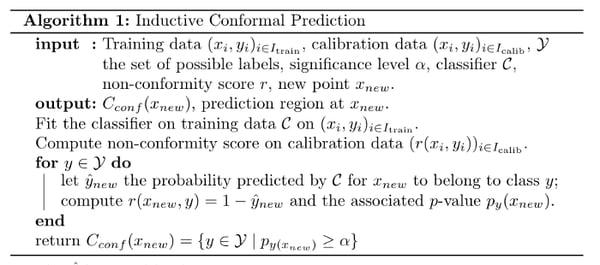 inductive conformal prediction