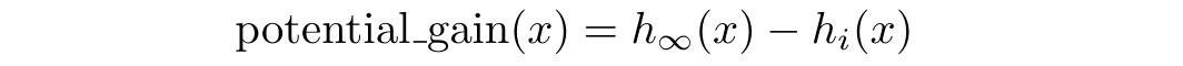 potential gain formula