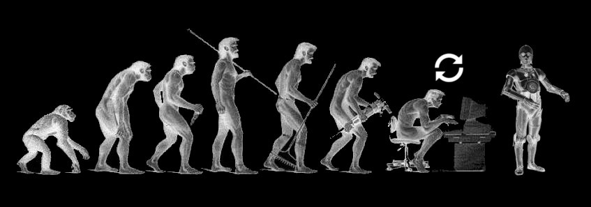 evoluation becoming human