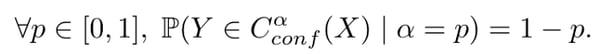 calibrated conformal predictor