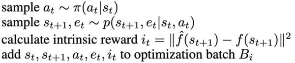 intrinsic reward calculation