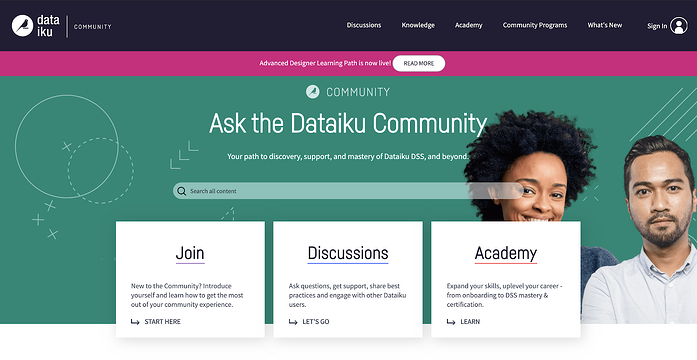 Dataiku community