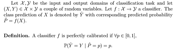 canonical calibration property