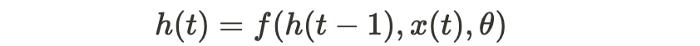 standard RNN equation