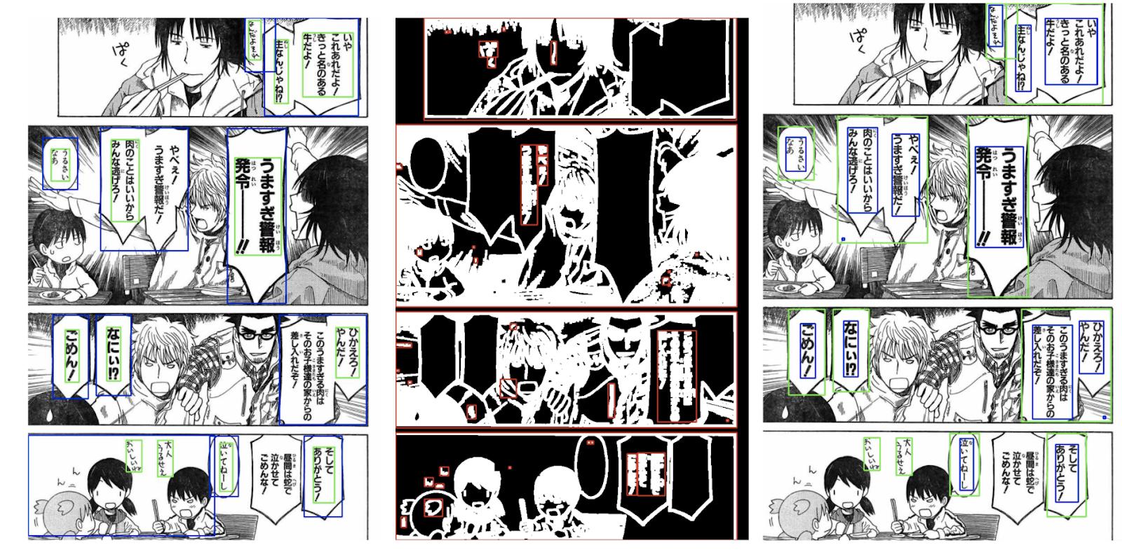 automated manga translation detecting text bubbles