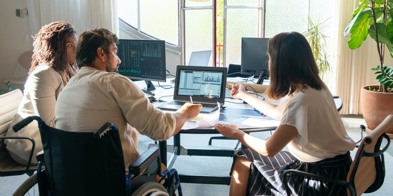 team collaborating