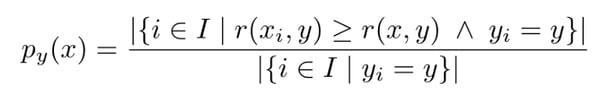 label-conditional conformal p-value