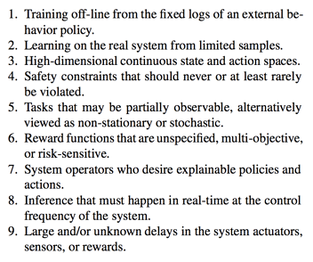 reinforcement learning challenges