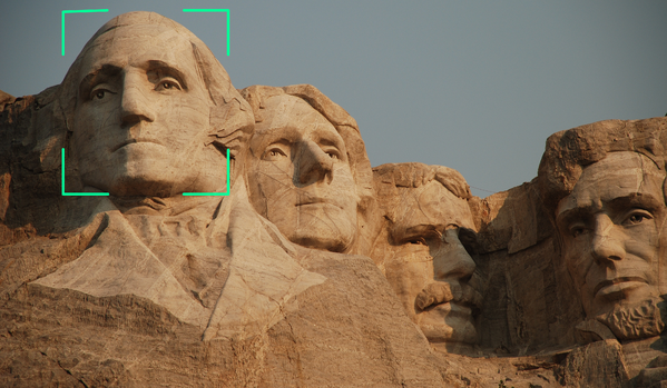 Mt. Rushmore with crop lines