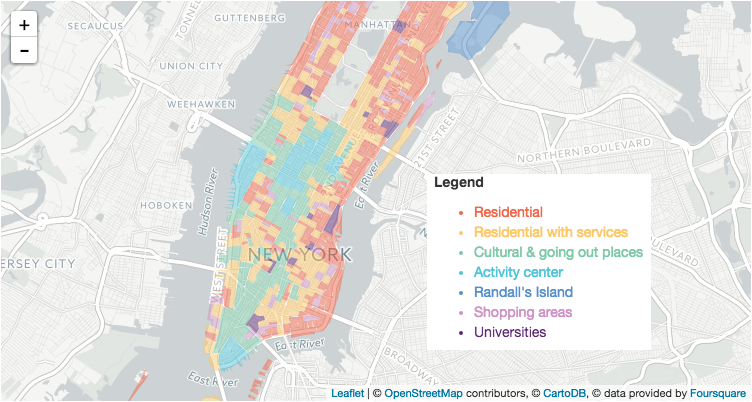 NYC cluster map w legend