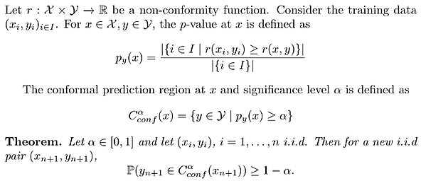 fundamental theorem of conformal predictions
