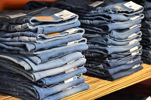 jeans in a store