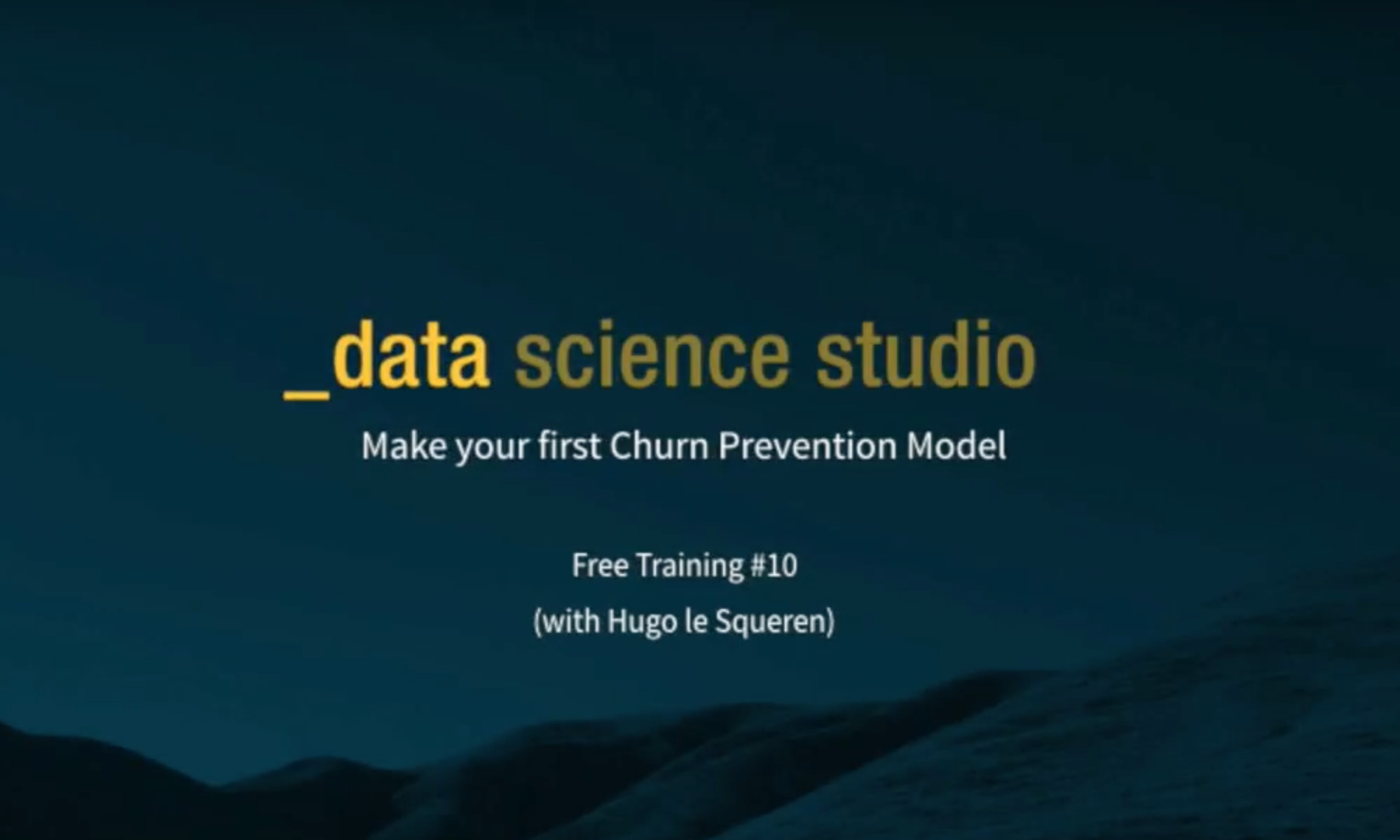 Make your first Churn Prevention Model in DSS [Video]