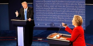 Donald Trump, Hillary Clinton, and Non-Negative Matrix Factorization