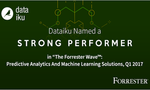 The Forrester Wave Names Dataiku a Strong Performer