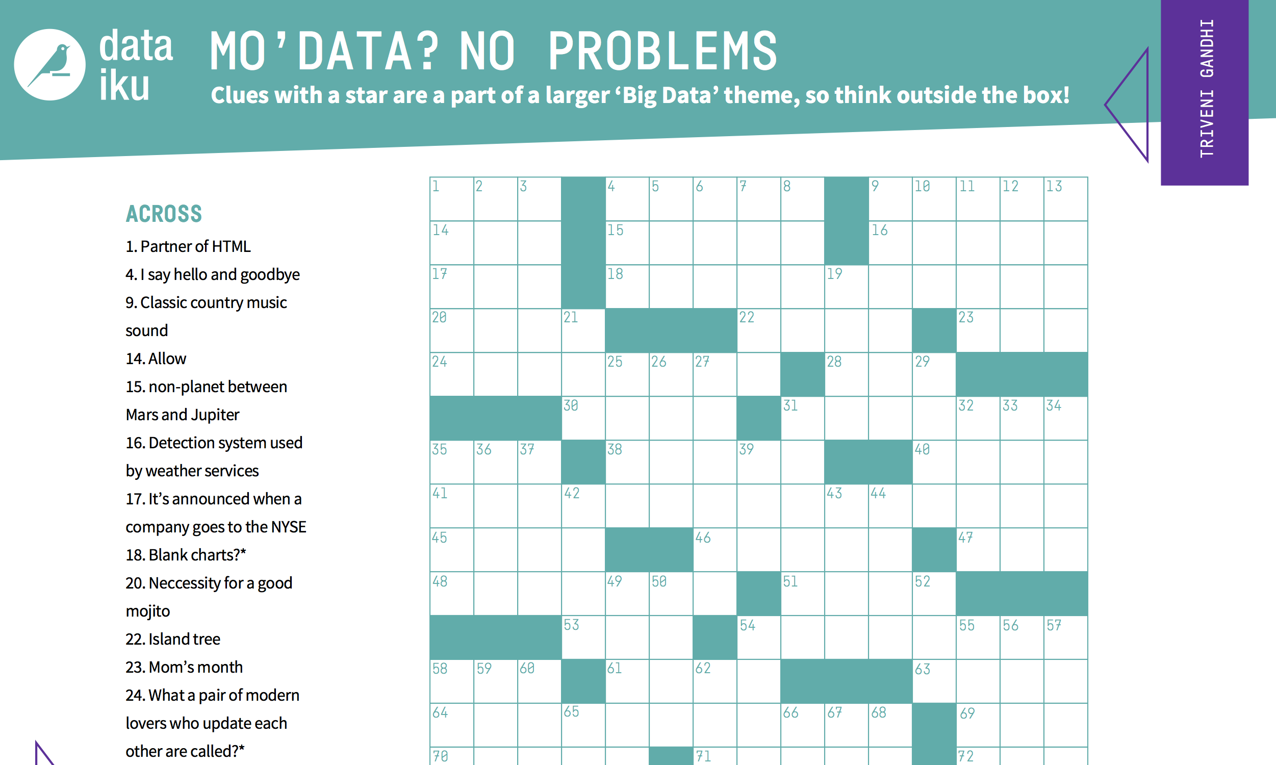 Test Your Skills With A Data Science Crossword
