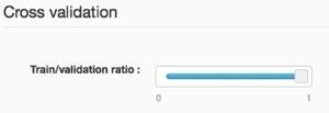 Cross-validation ratio