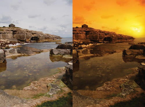Sunset effect in Photoshop