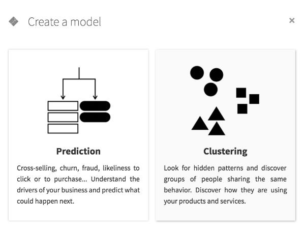 Choosing a machine learning task in Dataiku DSS