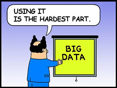 The hardest Ppart with Big Data is using it.