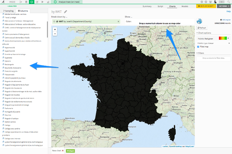 Making interactive maps with DSS