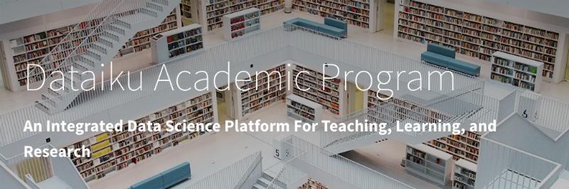 get dataiku academic program