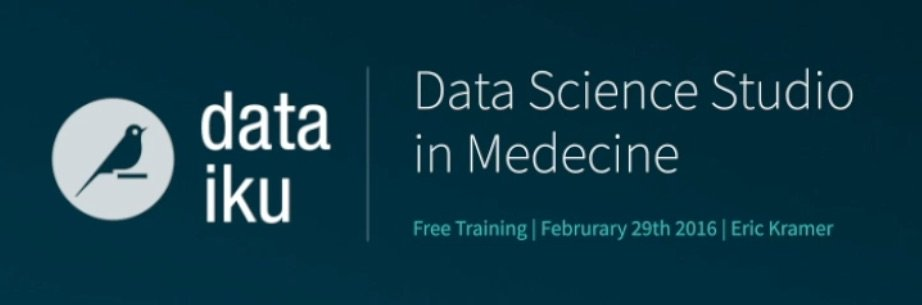 Leverage Your Patient Data in 15 Minutes with Dataiku DSS
