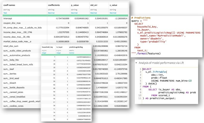 in-database scoring Dataiku Vertica