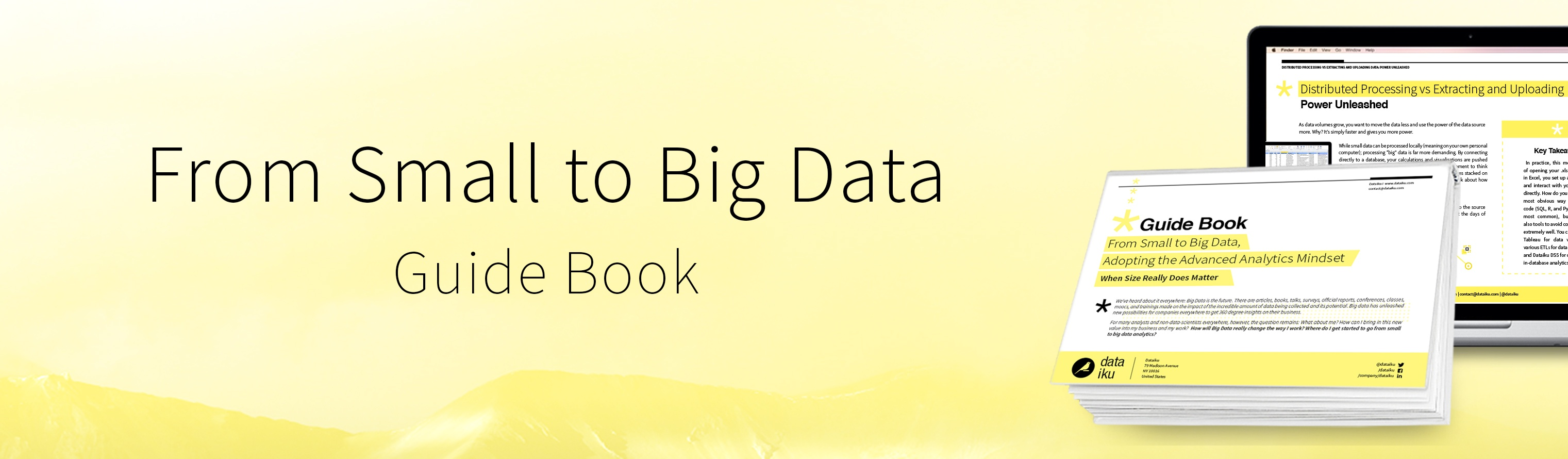 From Small to Big Data Advanced Analytics Guidebook