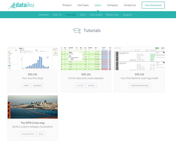 Introducing The New Learn Section Of Dataiku's Website